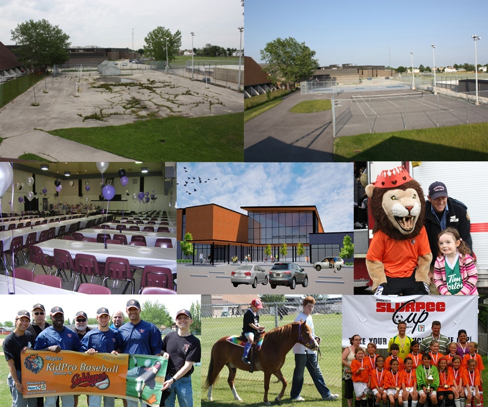 Various pictures of the Maples grounds